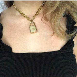 gold chain & lock